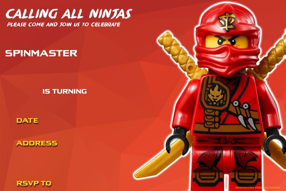 Free Printable Lego Ninjago Birthday   Free Printable Birthday - Lego Ninjago Party Invitations Printable Free