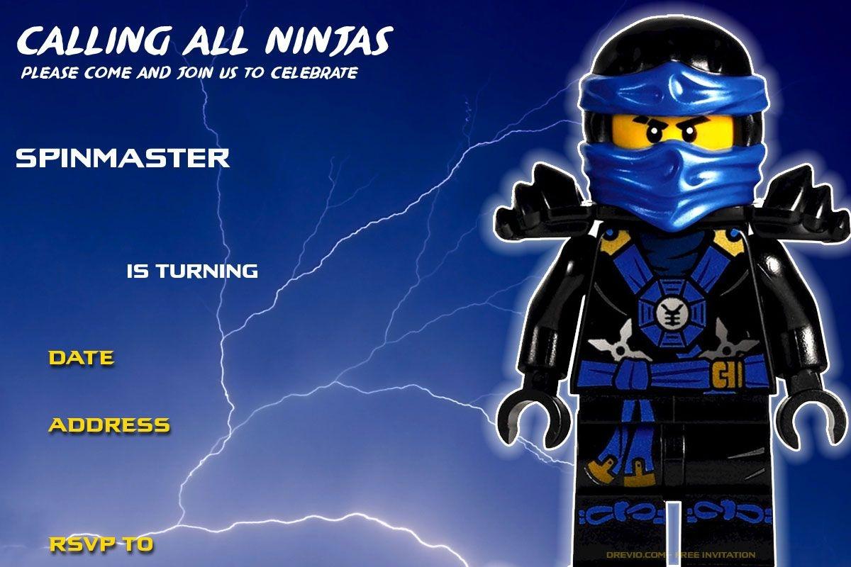 Free Printable Lego Ninjago Birthday Invitation   Birthday Ideas - Lego Ninjago Party Invitations Printable Free