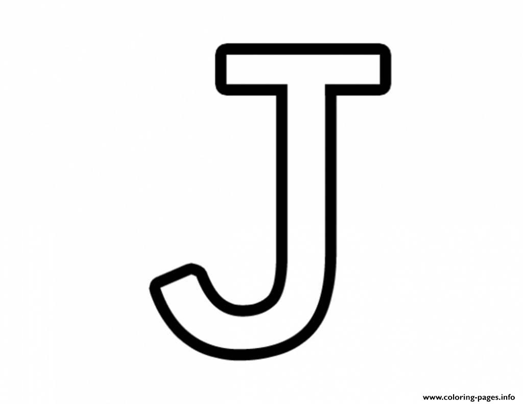 Free Printable Letter J Alphabet Coloring | Coloring Pages - Free Printable Letter J