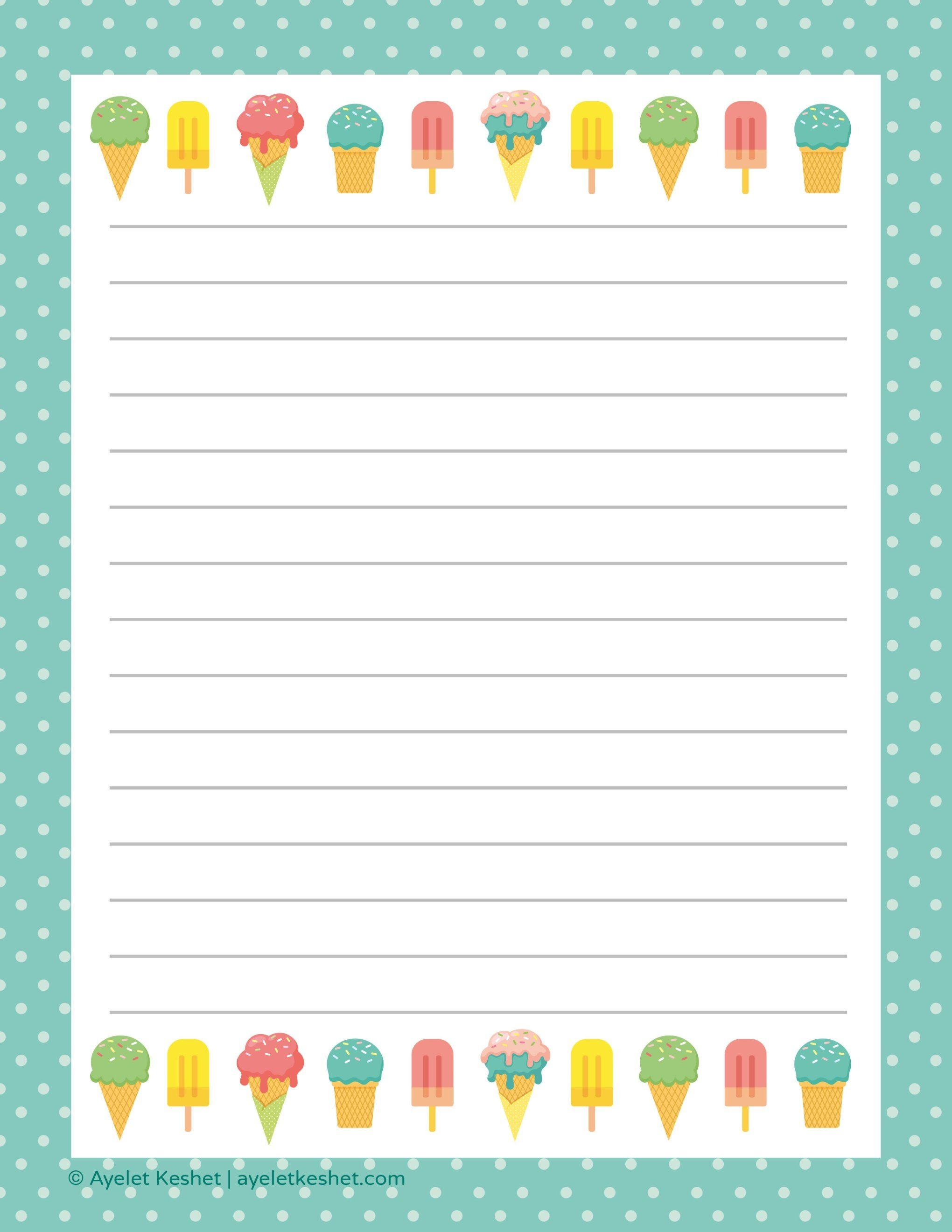 Free Printable Letter Paper | Printables To Go | Free Printable - Writing Borders Free Printable