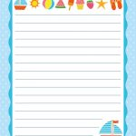 Free Printable Letter Paper   Printables To Go   Printable Letters   Free Printable Writing Paper For Adults