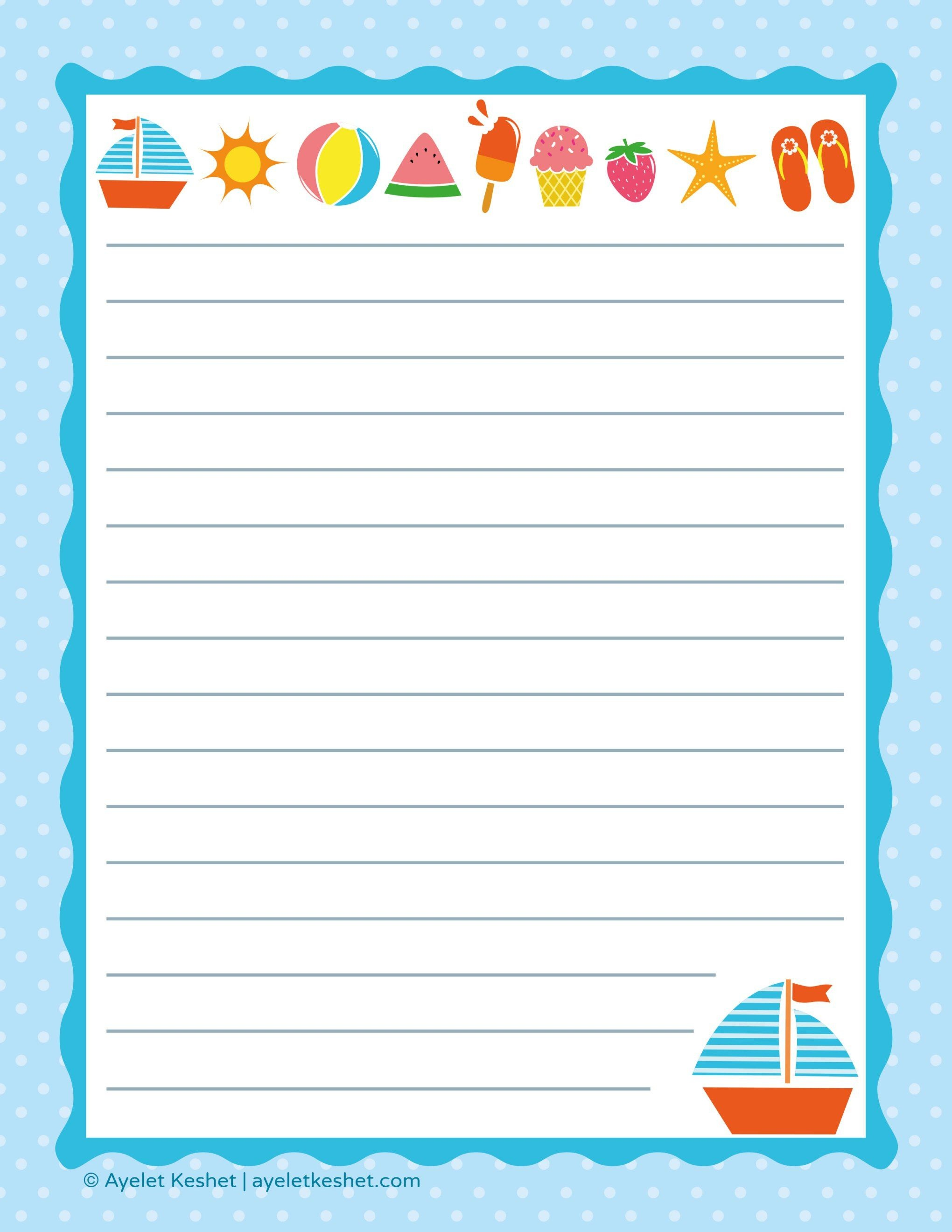 Free Printable Letter Paper | Printables To Go | Printable Letters - Free Printable Writing Paper