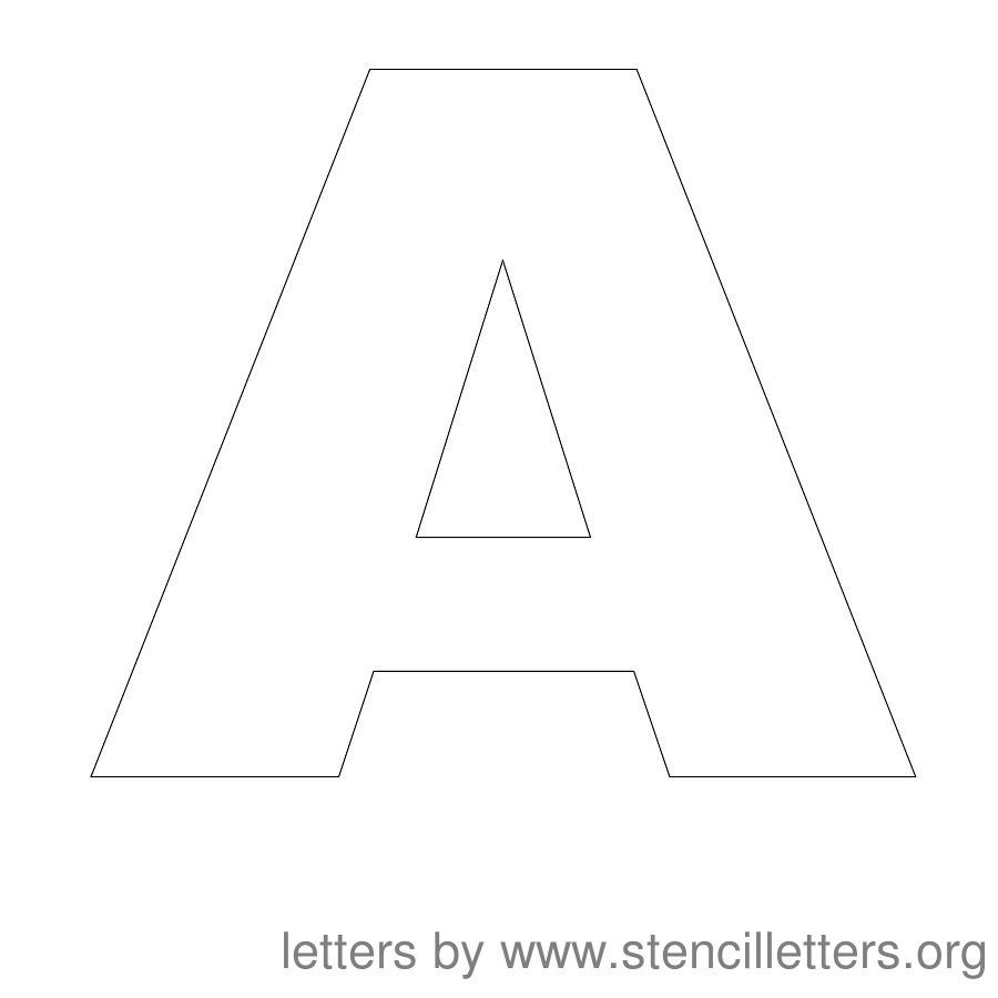 Free Printable Letter Stencils | Stencil Letters 12 Inch Uppercase - Free Printable 4 Inch Block Letters