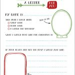 Free Printable Letter To Santa | Language | Santa Letter, Santa   Free Printable Dear Santa Stationary