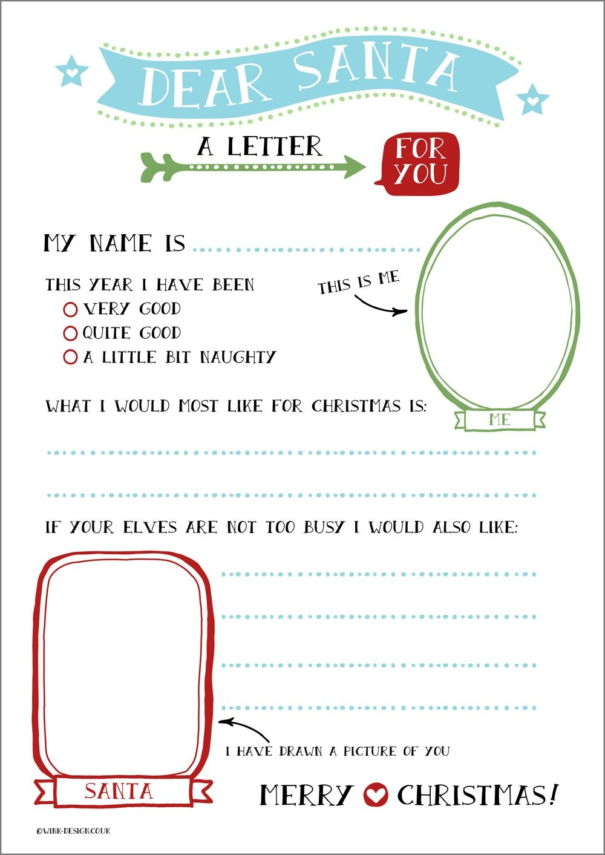 Free Printable Letter To Santa | Language | Santa Letter, Santa - Free Printable Dear Santa Stationary