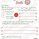 Free Printable Letter To Santa Template   Writing To Santa Made Easy!   Free Printable Letter Writing Templates
