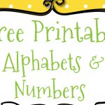 Free Printable Letters And Numbers For Crafts   Free Printable Letters And Numbers