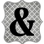 Free Printable Letters Gray And Black | Diy Swank   Free Printable Letters And Numbers