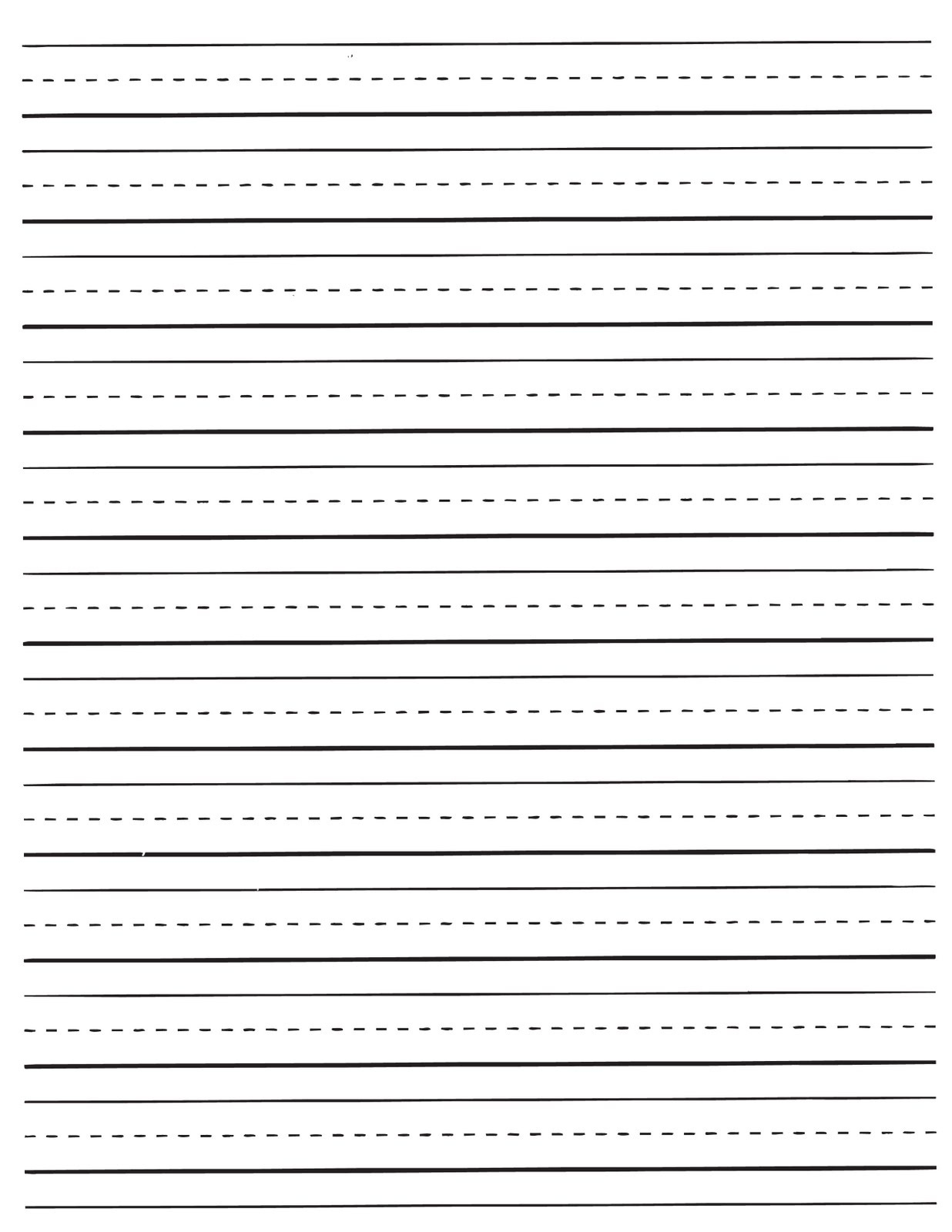 Free Printable Lined Paper For Kindergarten - Kaza.psstech.co - Free Printable Kindergarten Lined Paper Template