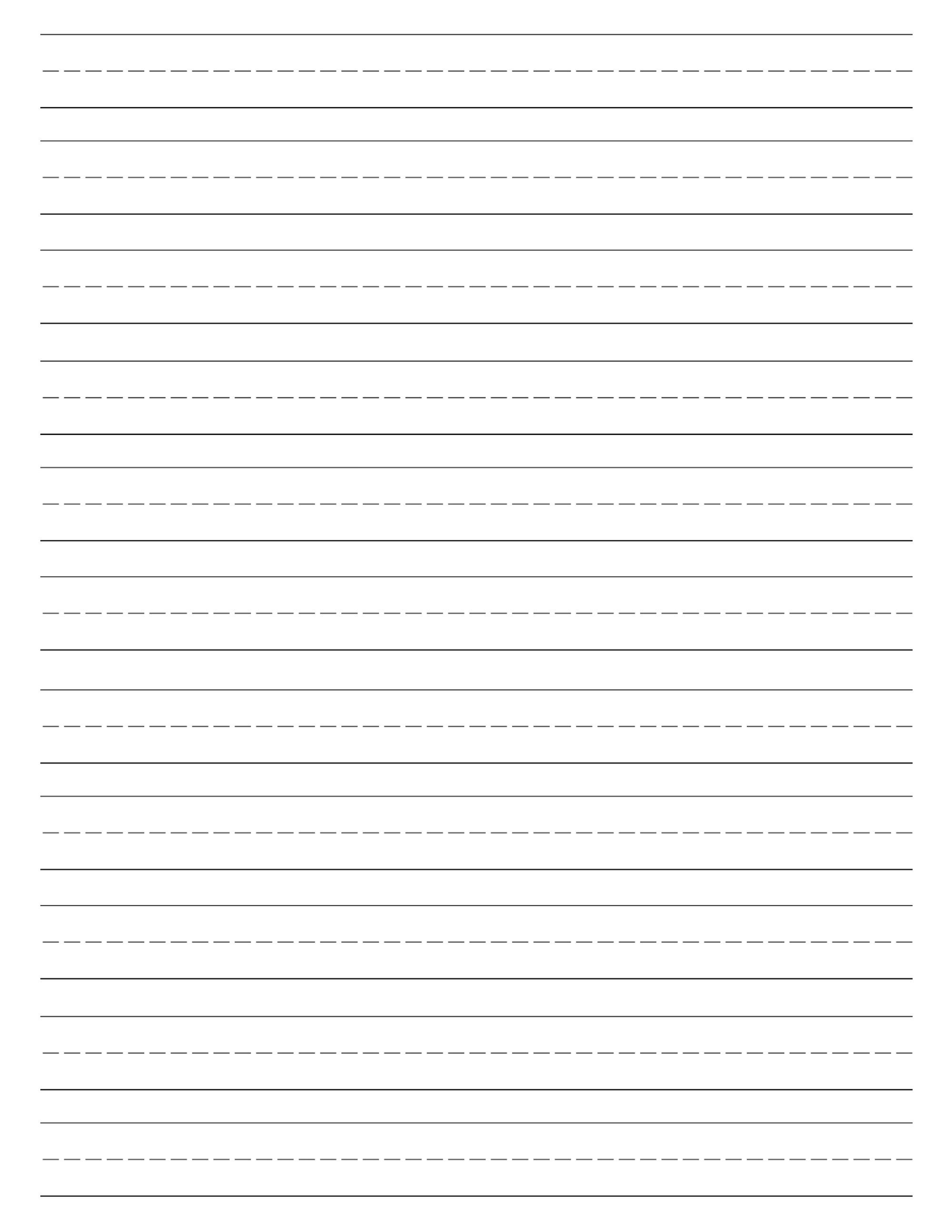 Free Printable Lined Paper {Handwriting Paper Template} | School - Blank Handwriting Worksheets Printable Free