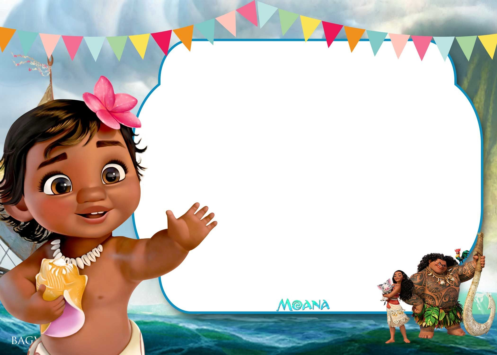 Free Printable Little Moana Birthday And Baby Shower | Moana - Free Moana Printable Invitations