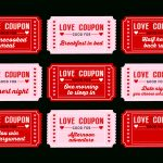 Free Printable Love Coupons For Couples On Valentine's Day!   Catch   Free Printable Love Coupons