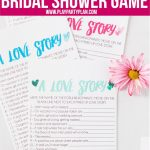 Free Printable Love Story Bridal Shower Game   Play Party Plan   Free Printable Wedding Shower Games