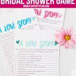 Free Printable Love Story Bridal Shower Game   Play Party Plan   Free Printable Wedding Shower Games