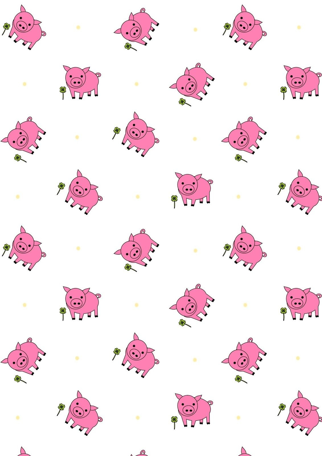 Free Printable Lucky Pig Pattern Paper | Digi Papers Some Free - Free Printable Pattern Paper Sheets