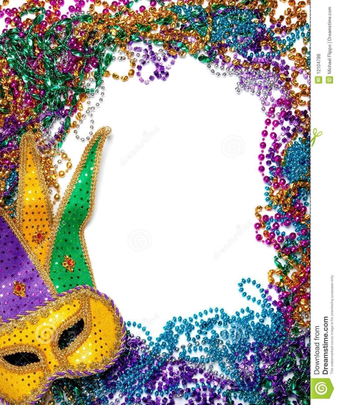Free Printable Mardi Gras Borders. Royalty Free Stock Photos Border - Free Printable Mardi Gras Invitations