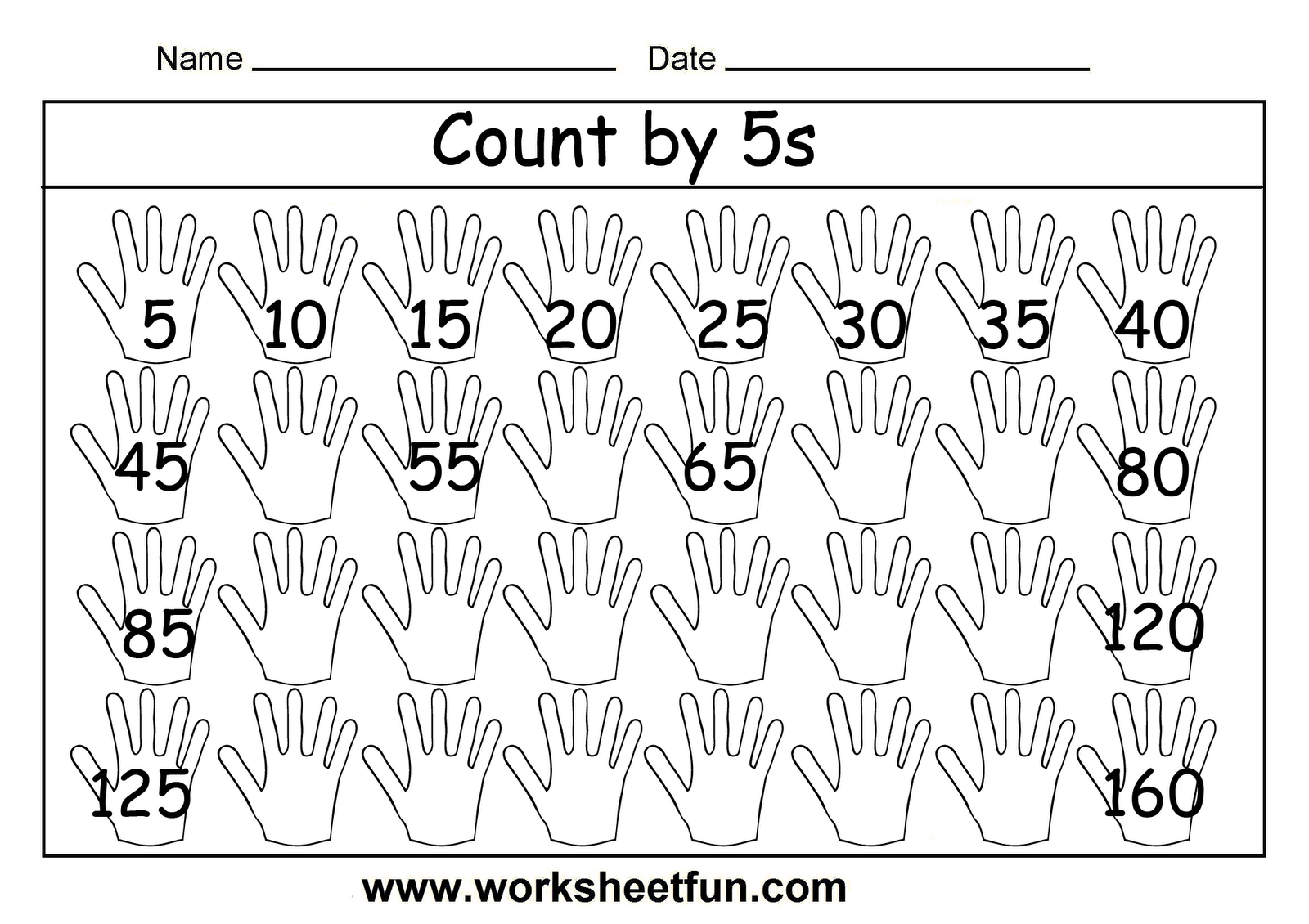 Free Printable Math Worksheets Count5S … | Patterns And - Free Printable Skip Counting Worksheets