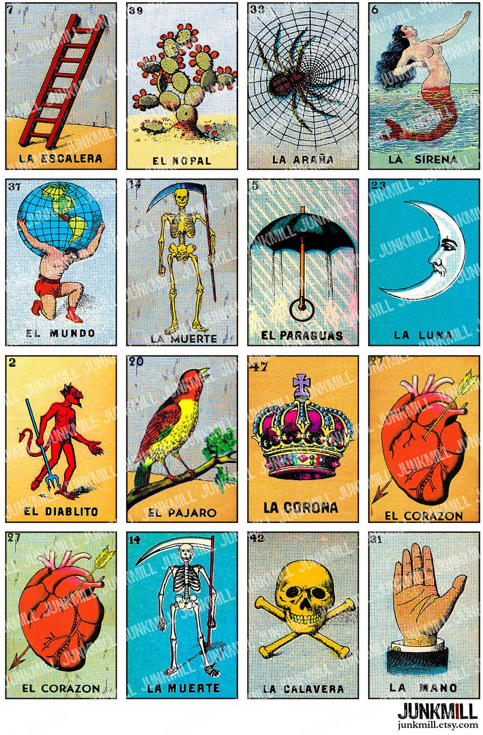 Free Printable Mexican Loteria Cards - Printable Cards - Loteria Printable Cards Free