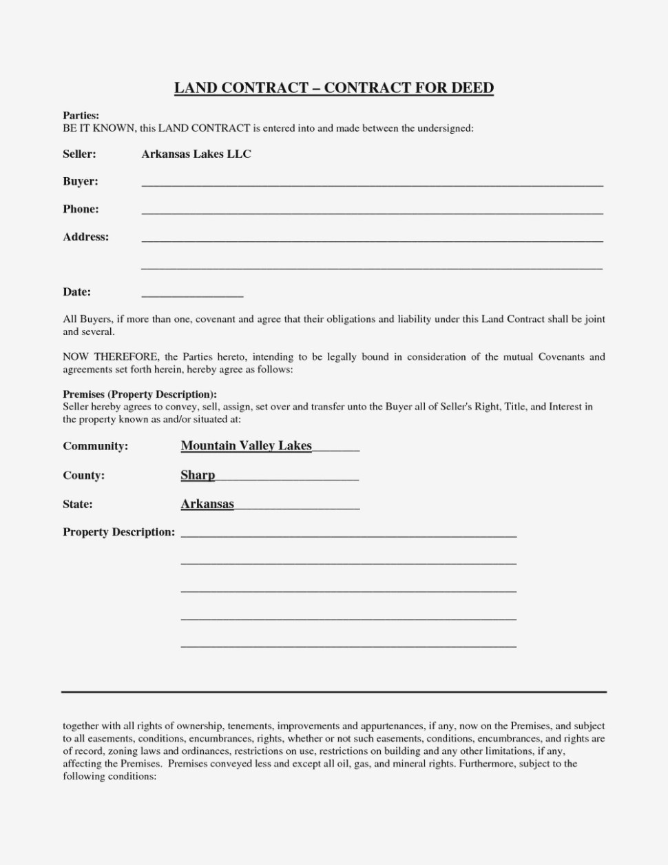 Free Printable Michigan Land Contract Form Pdf #12 – Florida Land - Free Printable Land Contract Forms