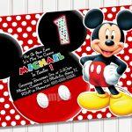 Free Printable Mickey Mouse 1St Birthday Party Invitations | Israel   Free Printable Mickey Mouse 1St Birthday Invitations