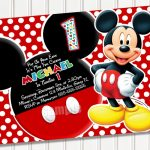 Free Printable Mickey Mouse 1St Birthday Party Invitations | Israel   Free Printable Mickey Mouse Invitations