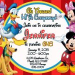 Free Printable Mickey Mouse Clubhouse Invitations Template | Baby   Free Printable Mickey Mouse Invitations