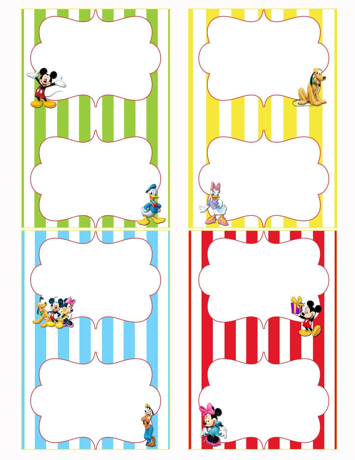 Free Printable Mickey Mouse Food Labels | Birthdays In 2019 | Mickey - Free Printable Food Tent Cards