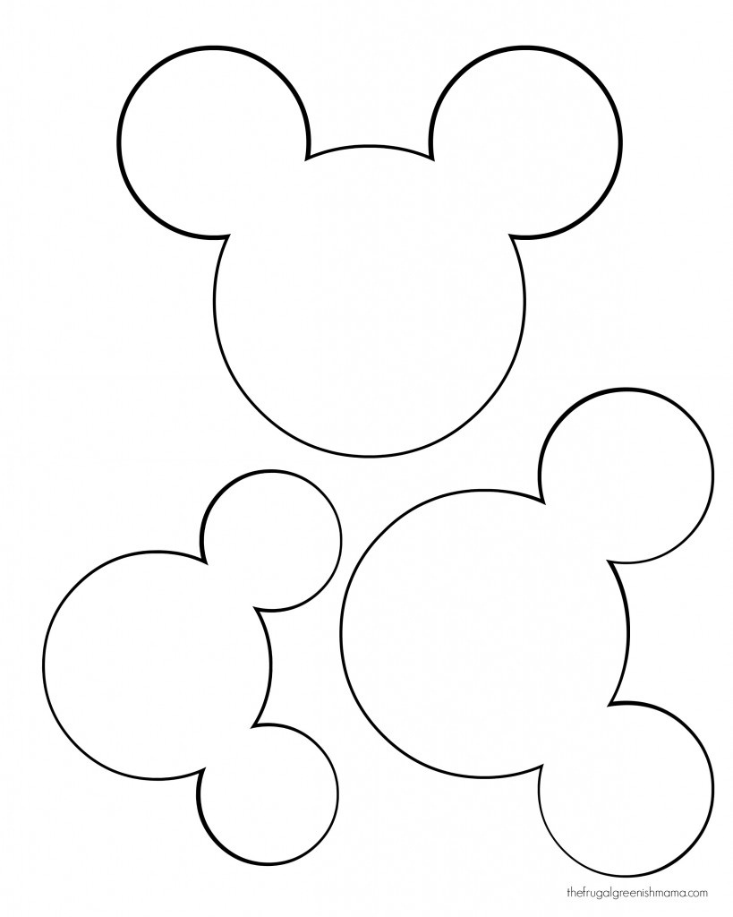 Free Printable Mickey Mouse Head, Download Free Clip Art, Free Clip - Free Printable Mickey Mouse Template