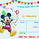 Free Printable Mickey Mouse Party Invitation Template | Free   Free Printable Mickey Mouse Invitations