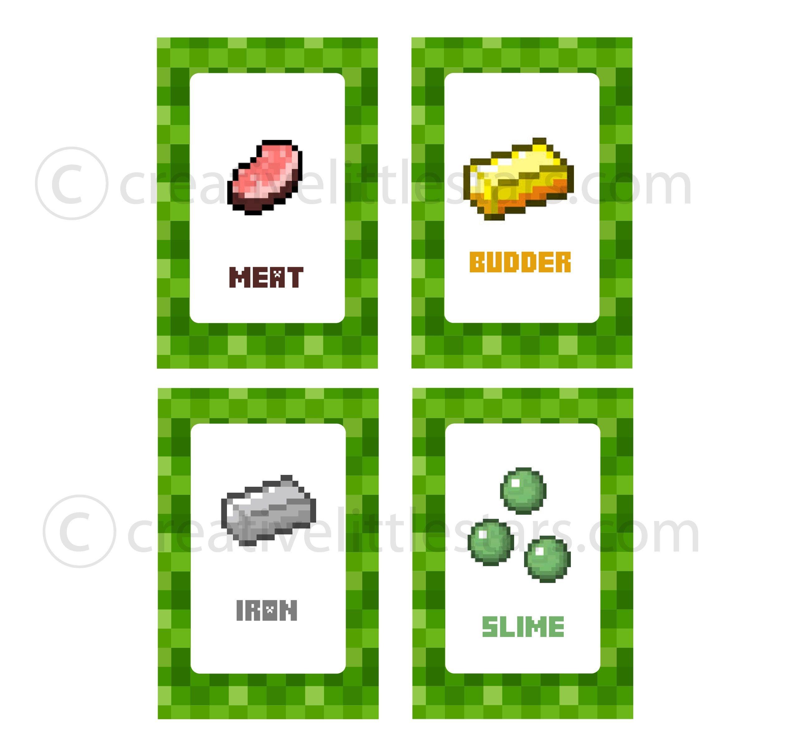 Free Printable Minecraft Food Tent Labels - Bing Images   Minecraft - Free Printable Minecraft Food Labels