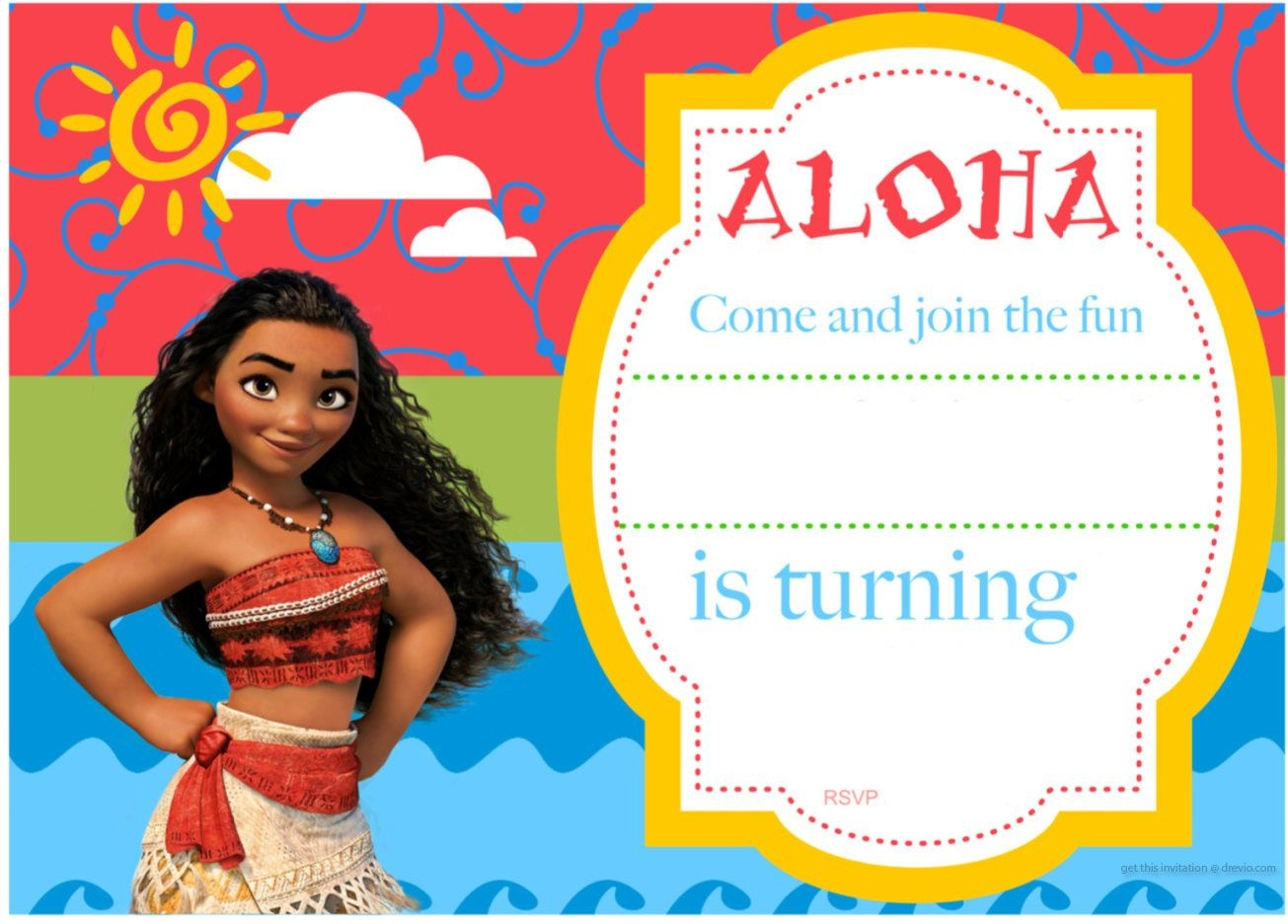 Free Printable Moana Birthday Invitation And Party | Free - Free Moana Printable Invitations