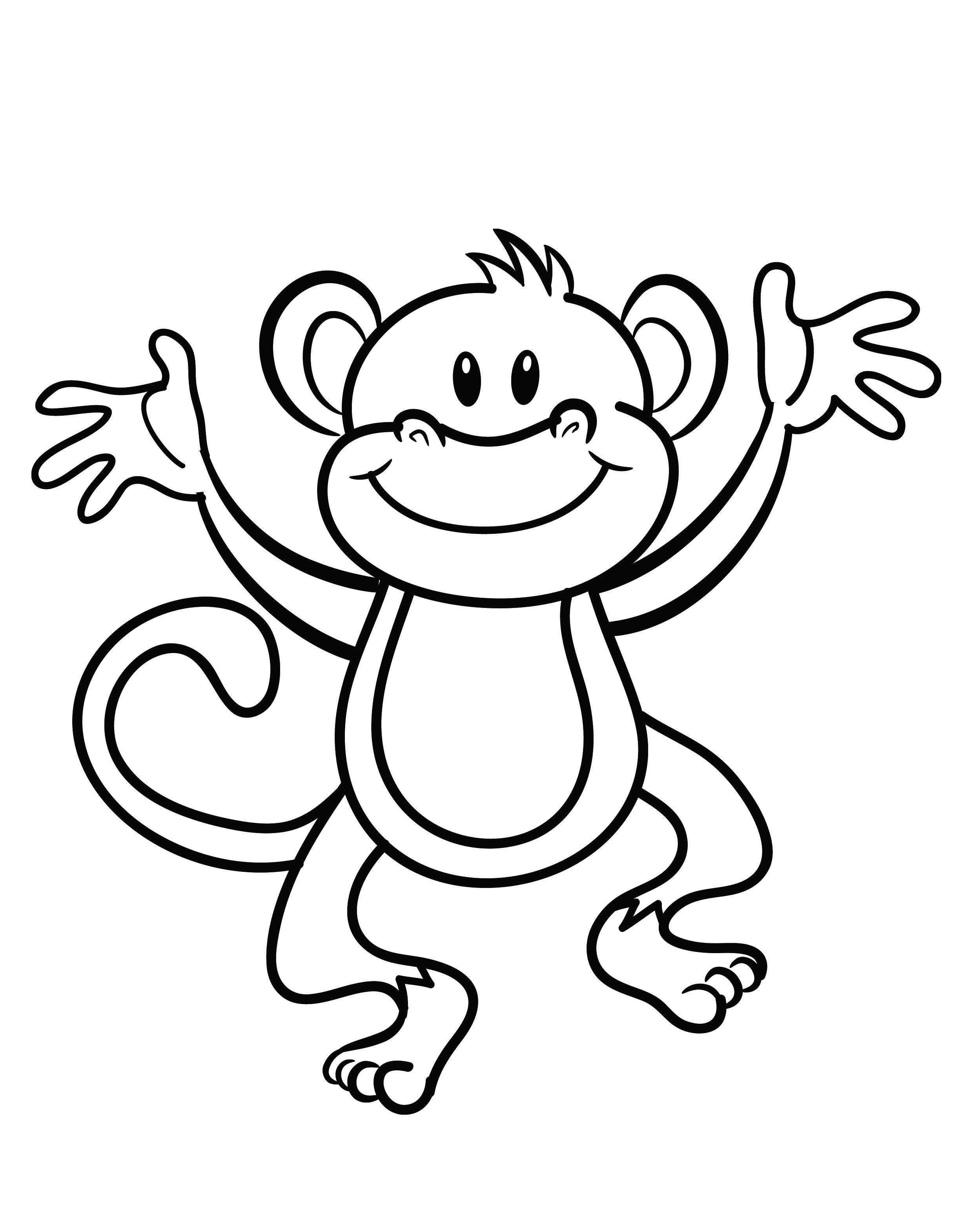 Free Printable Monkey Coloring Page   Cj 1St Birthday   Monkey - Free Printable Monkey Coloring Pages