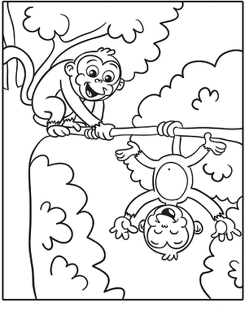 Free-Printable-Monkey-Coloring-Pages     Bestappsforkids - Free Printable Monkey Coloring Pages