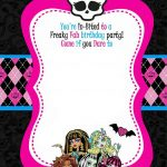 Free Printable Monster High Birthday Invitations | Free Printable   Free Printable Monster High Stickers