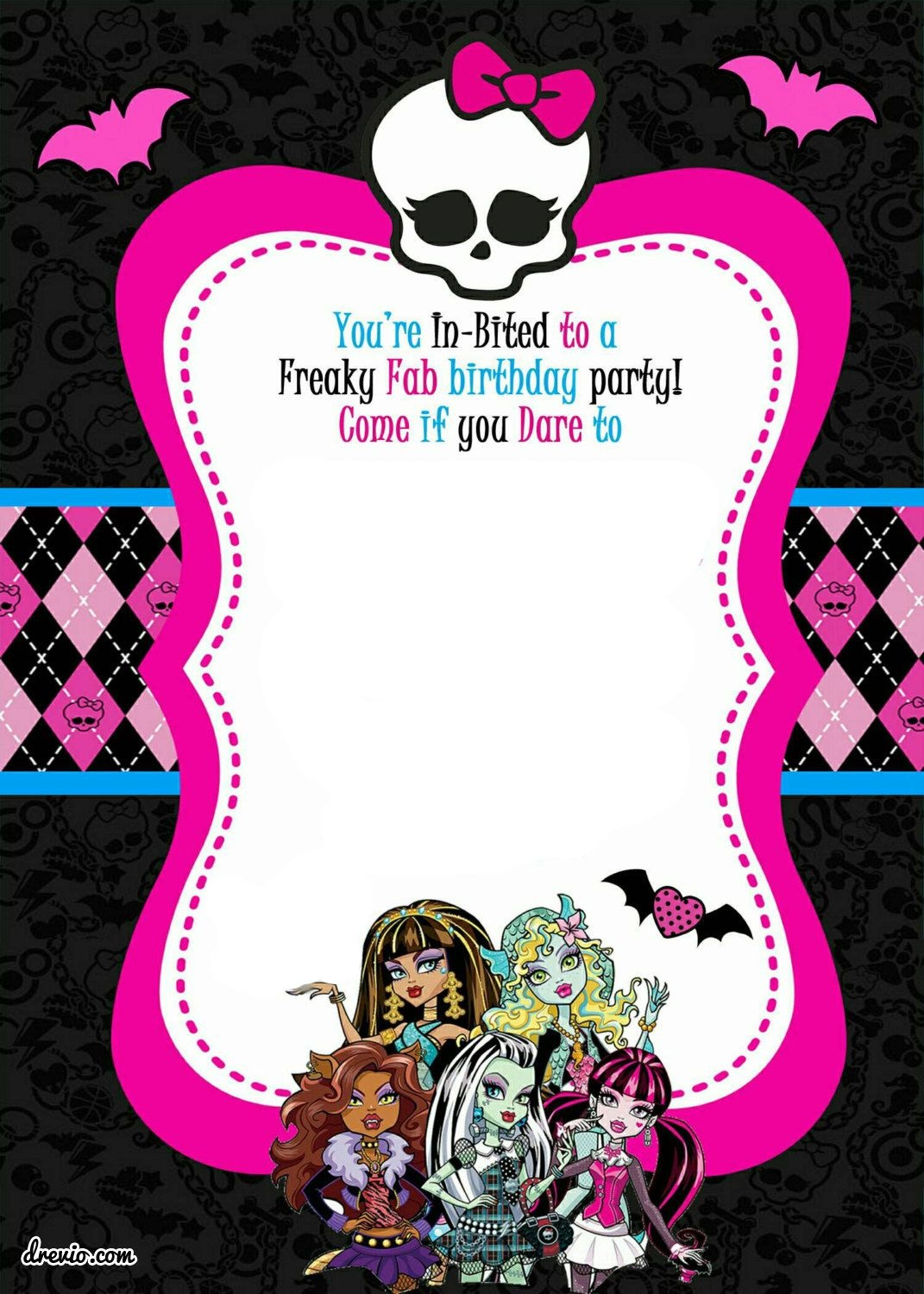 Free Printable Monster High Birthday Invitations | Free Printable - Free Printable Monster High Stickers