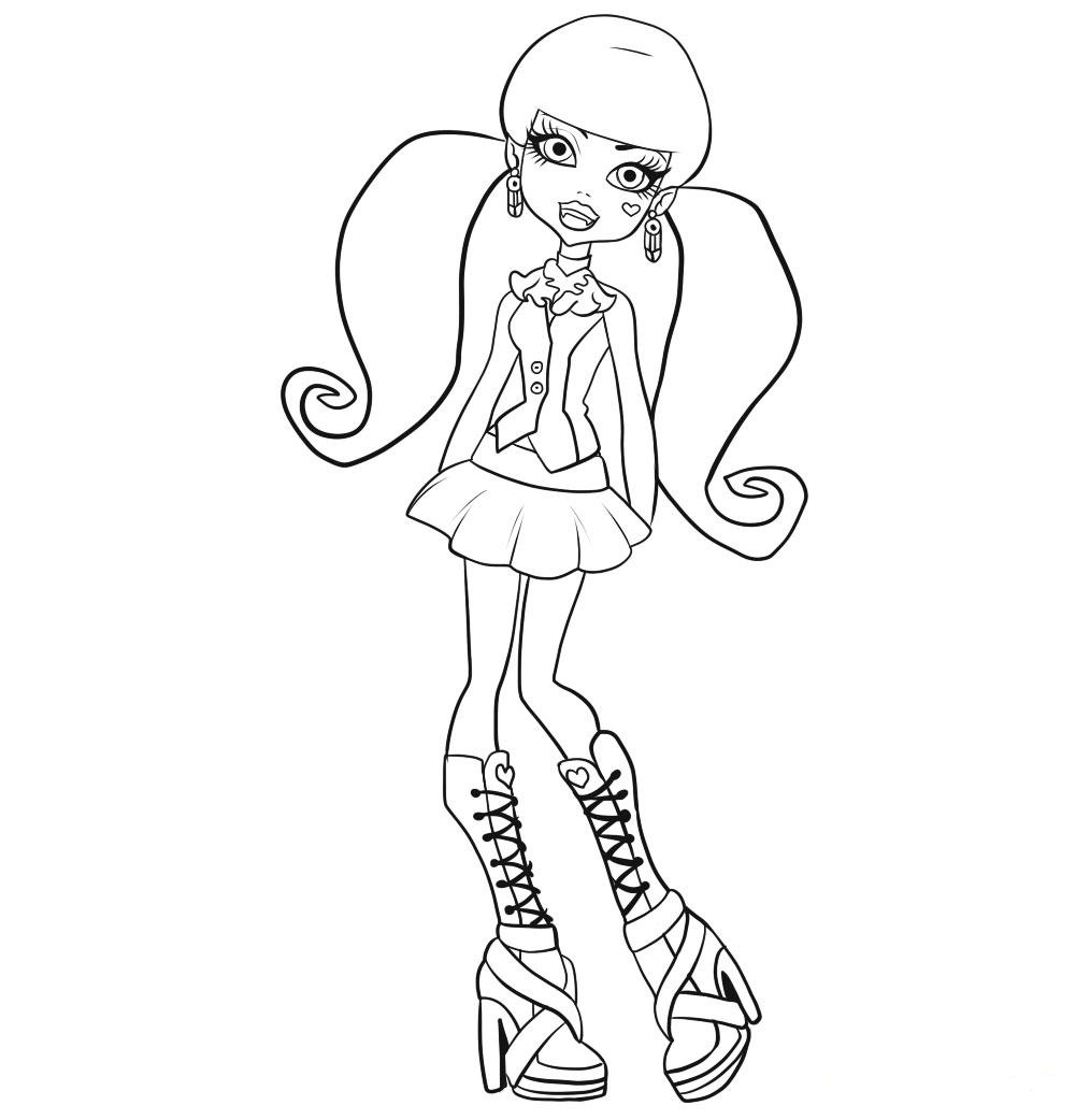 Free Printable Monster High Coloring Pages For Kids - Monster High Free Printable Pictures