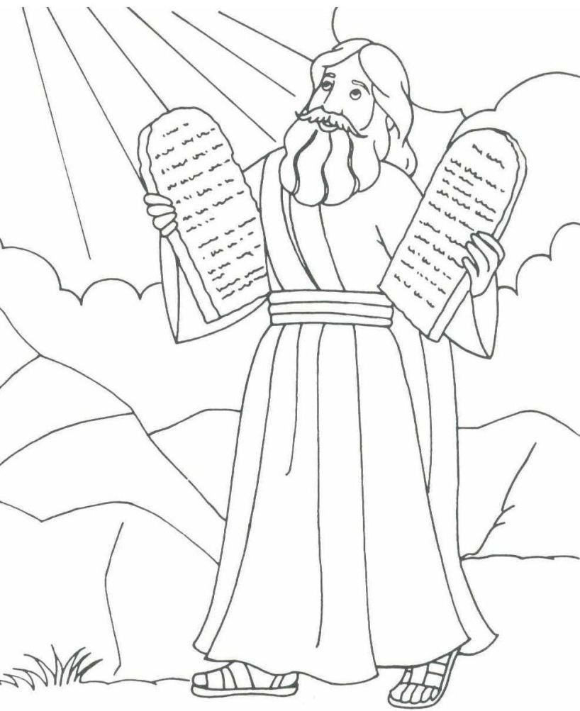 Free Printable Moses Coloring Pages For Kids | Projects To Try | Lds - Free Printable Bible Characters Coloring Pages