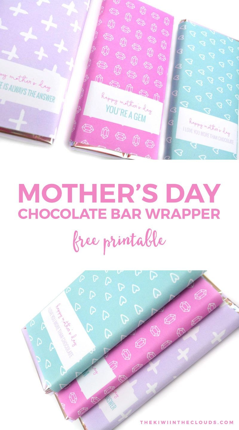 Free Printable Mothers Day Candy Bar Wrappers | Printables | Mothers - Free Printable Candy Bar Wrappers