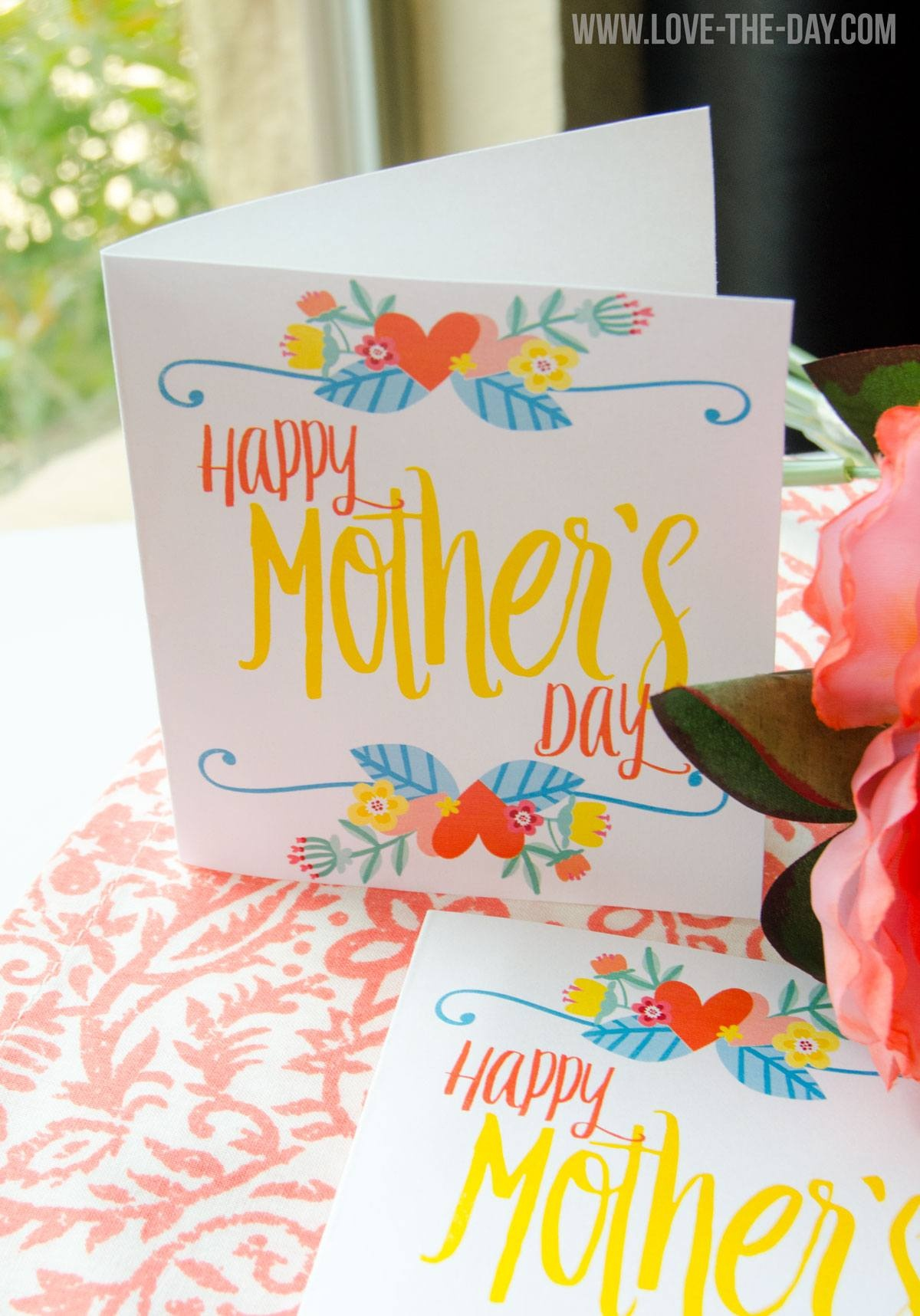 Free Printable Mother's Day Cardlindi Haws Of Love The Day - Free Printable Mothers Day Cards To My Wife