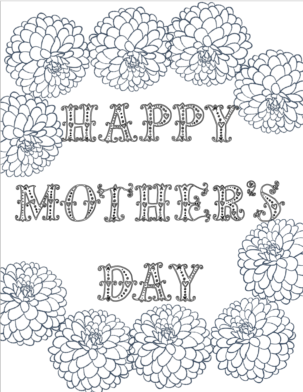 Free Printable Mother's Day Coloring Pages: 4 Designs - Free Printable Mothers Day Coloring Pages