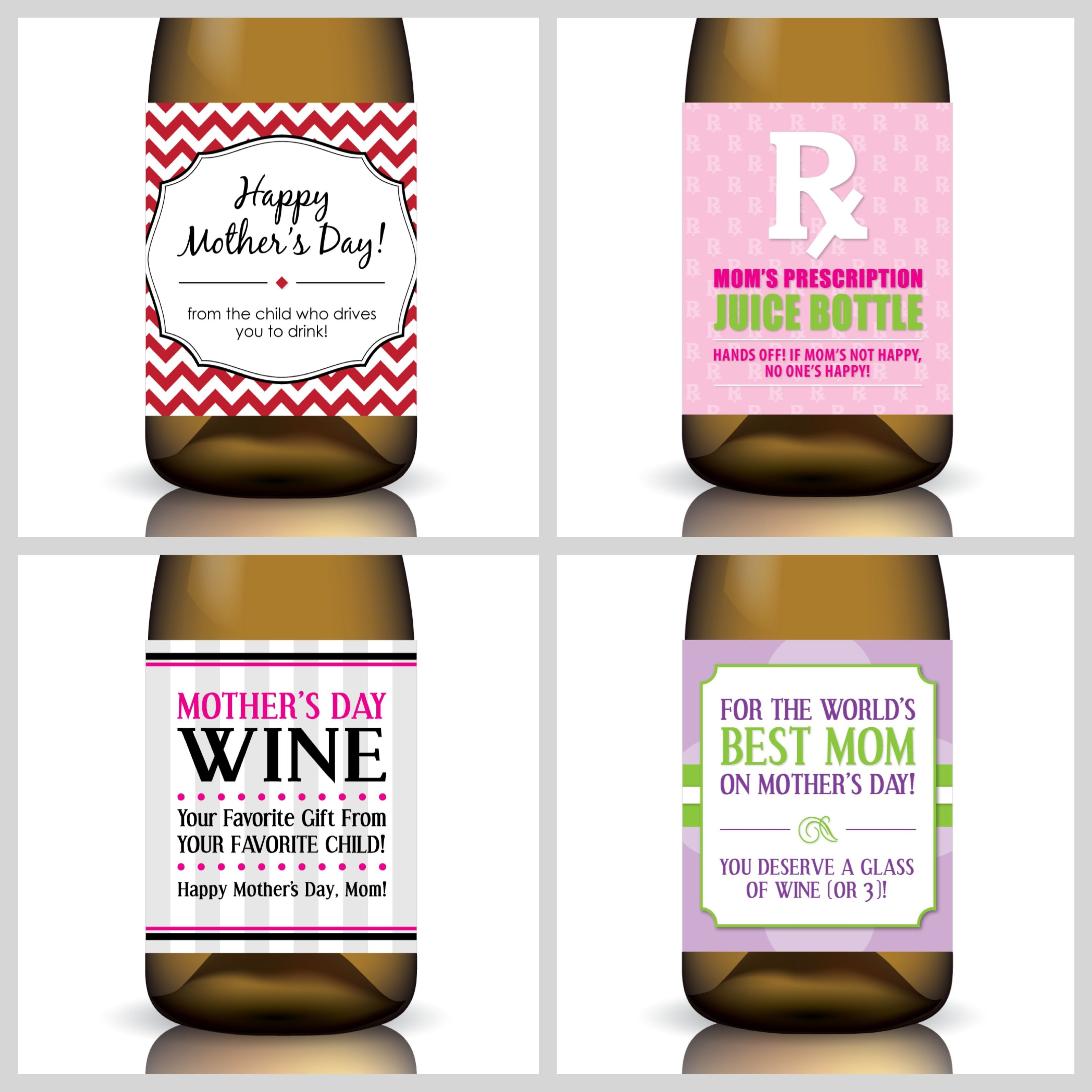 Free Printable Mother's Day Wine Labelsgifted Labels | Gift - Free Printable Wine Labels With Photo