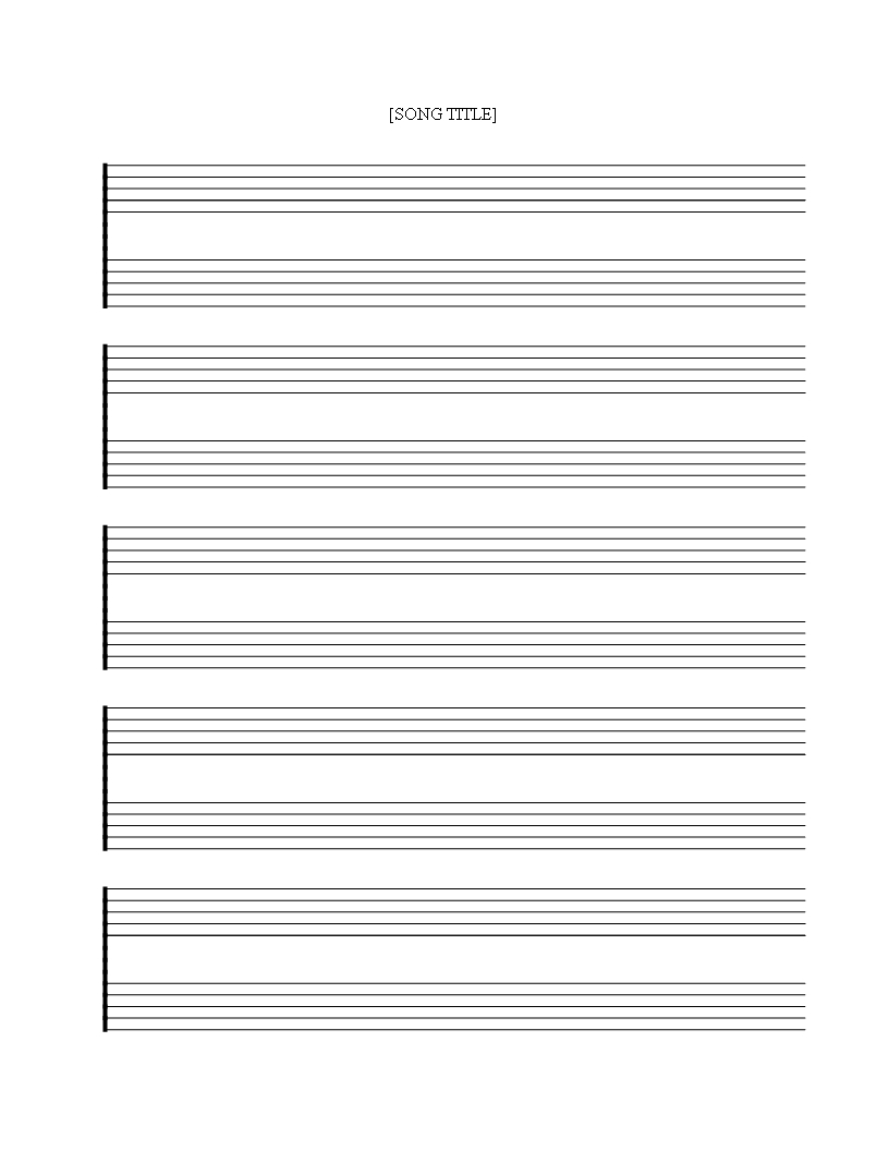 Free Printable Music Staff Sheet 5 Double Lines - Download This Free - Free Printable Staff Paper