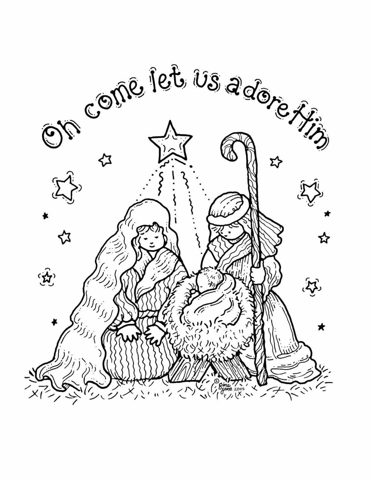 Free Printable Nativity Coloring Pages For Kids - Best Coloring - Free Printable Nativity Scene Pictures