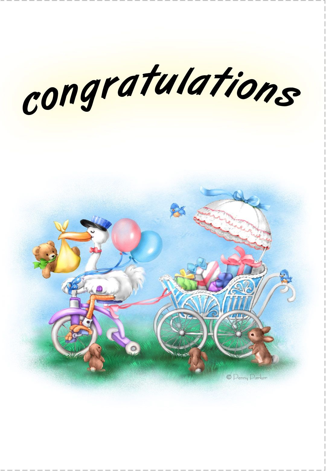 Free Printable New Baby Congratulations Greeting Card | Quotes - Congratulations On Your Baby Girl Free Printable Cards