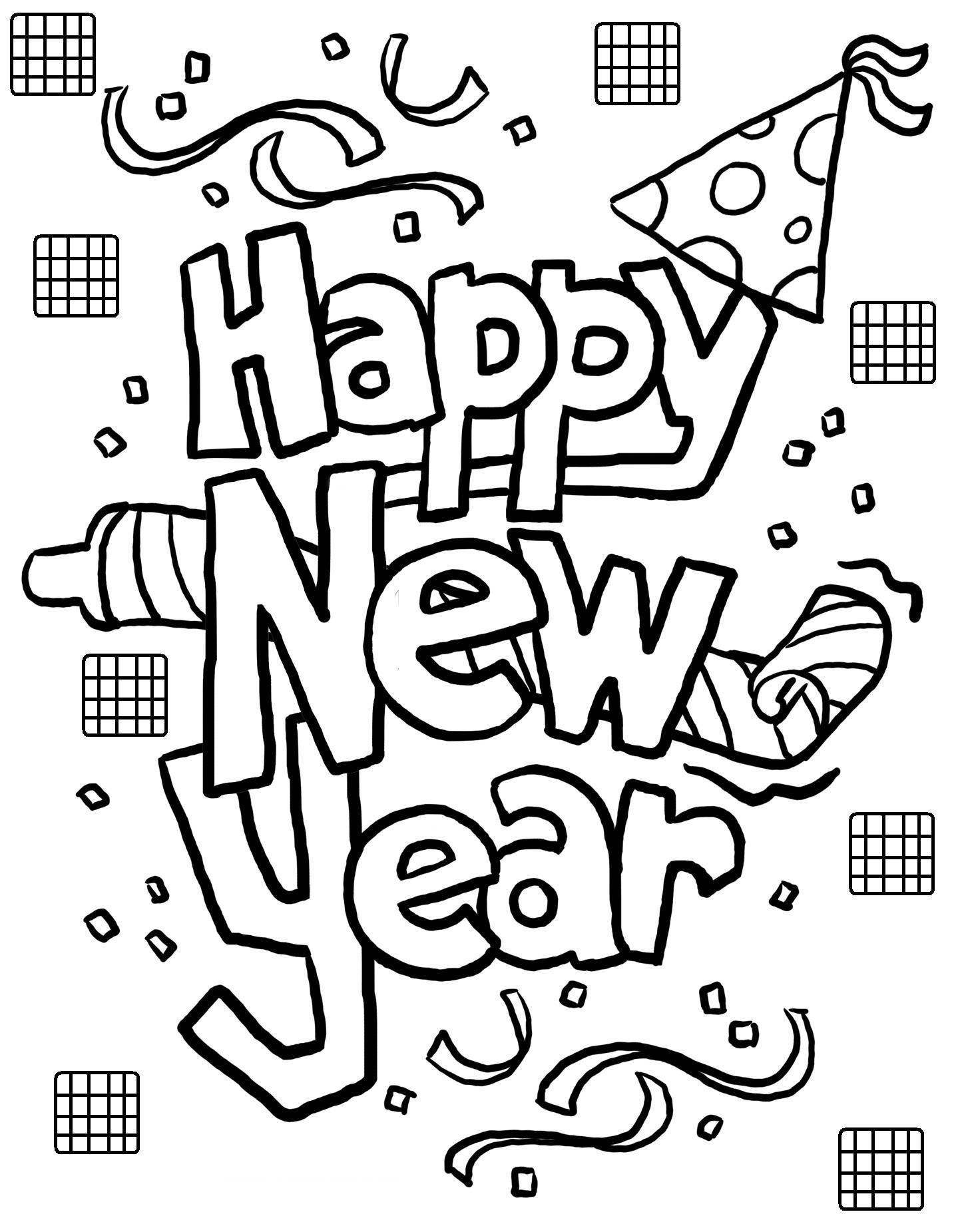 Free Printable New Years Coloring Pages For Kids | Coloring - Free Printable Happy New Year Cards