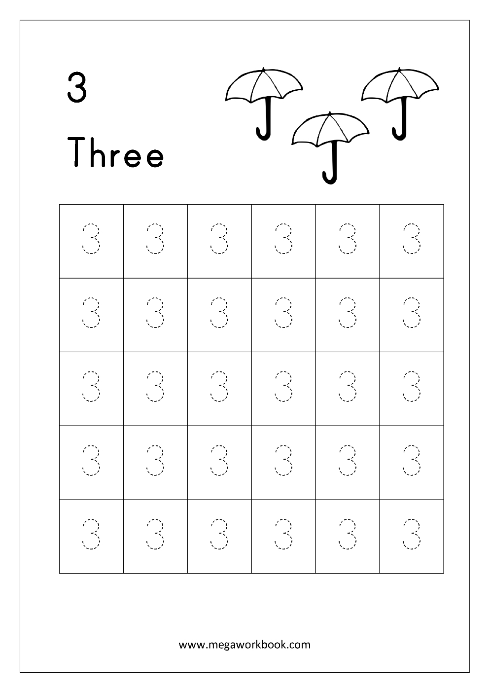 Free Printable Number Tracing And Writing (1-10) Worksheets - Number - Free Printable Number Worksheets