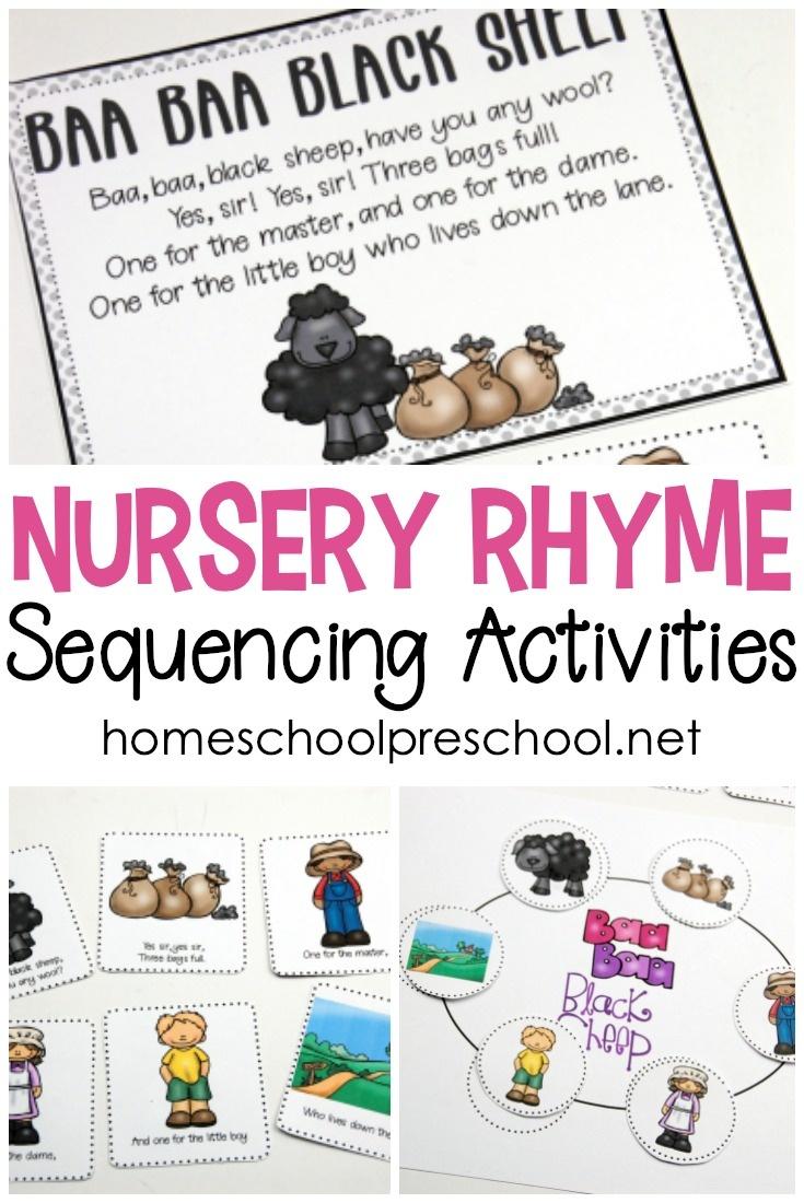 Free Printable Nursery Rhyme Sequencing Cards And Posters - Free Printable Preschool Posters