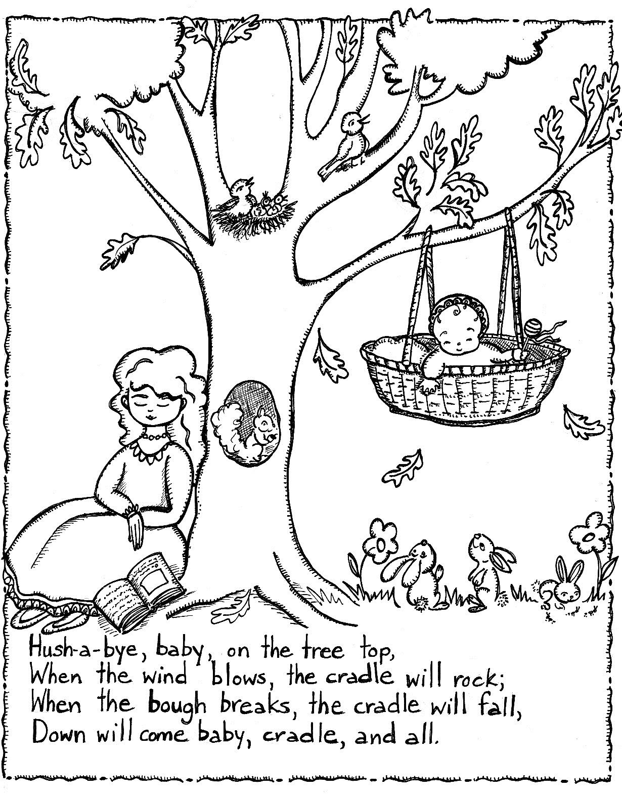 Free Printable Nursery Rhymes Coloring Pages For Kids - Free Printable Nursery Rhyme Coloring Pages