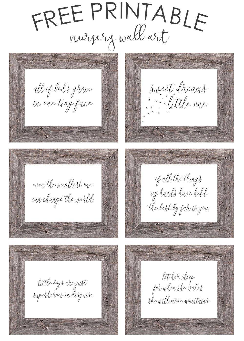 Free Printable Nursery Wall Art - The Girl Creative - Free Printable Wall Art For Bathroom