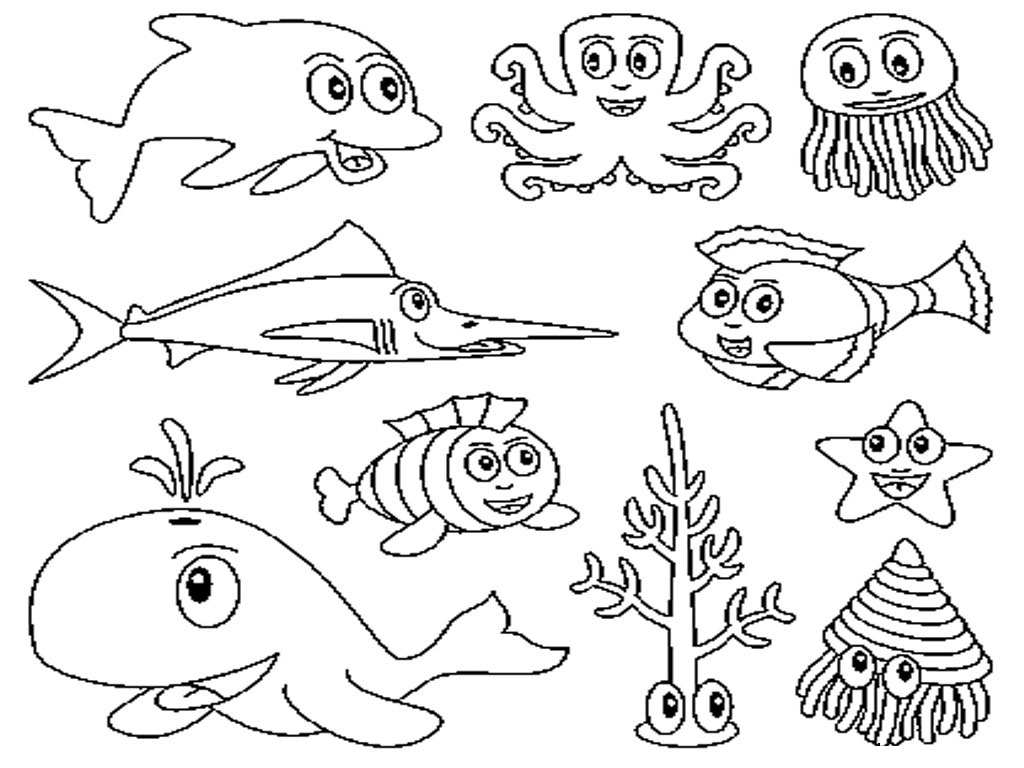 Free Printable Ocean Coloring Pages For Kids - Free Printable Sea Creature Templates